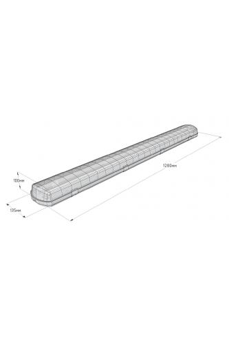 Корпус промышленного светильника 1280 мм - матовый