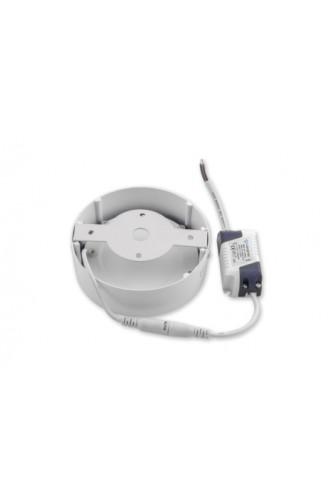 LED панель ультратонкая круглая накладная  - 6 Вт