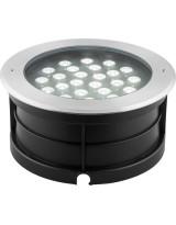 Светодиодный светильник тротуарный (грунтовый)  24W RGB 230V IP67