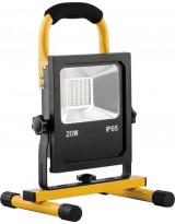 Светодиодный прожектор Аварийный - переносной с зарядным устройством IP65 20W