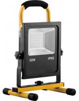 Светодиодный прожектор Аварийный - переносной с зарядным устройством IP65 30W