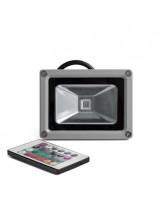 Светодиодный уличный RGB-прожектор 10 Ватт с пультом