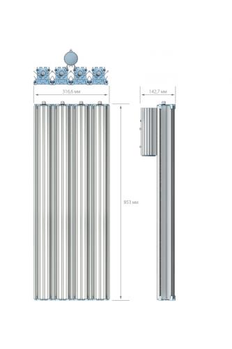 Уличный LED светильник на опору - 400 Вт(W)