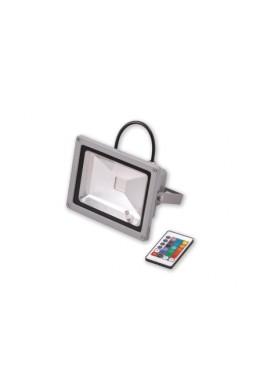 Прожектор LED_RGB c пультом управления - 20(W) Вт