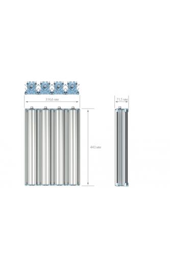 Промышленный LED светильник - 400 Вт